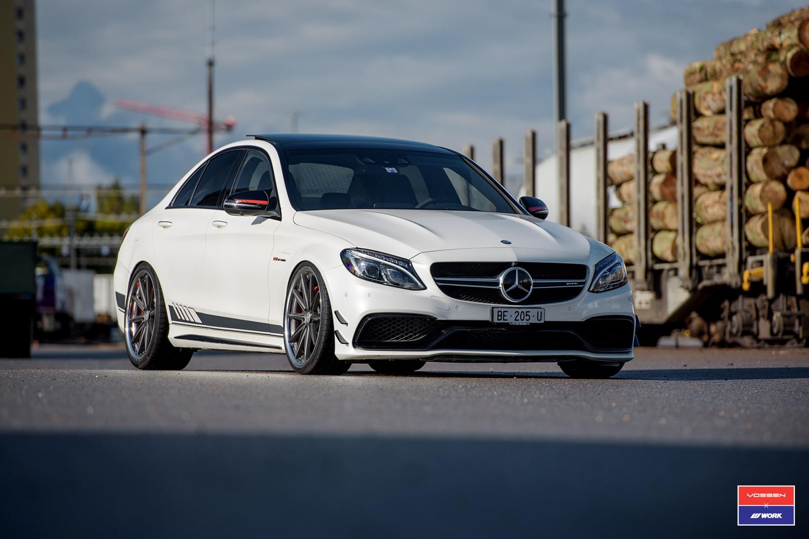 mercedes benz c class vossen x work series vws 1 vossen wheels. Black Bedroom Furniture Sets. Home Design Ideas